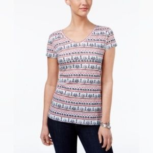 Style & Co Cotton Printed T-Shirt